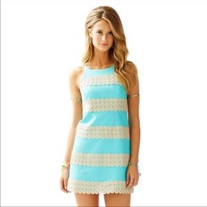Lilly Pulitzer Blue Gold Annabelle Shift Dress